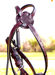 Thoroughbred  Fig 8 Leather Noseband