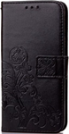 Cell phone clover-leaf black wallet - Iphone 7