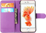 Cell phone purple wallet - Iphone 6s Plus