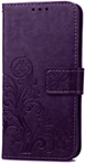 Cell phone clover-leaf purple wallet - Iphone 7