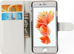 Cell phone white wallet - Iphone 6s Plus