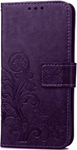Samsung S7 Cell phone clover-leaf purple wallet