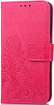 Samsung S7 Cell phone clover-leaf red wallet
