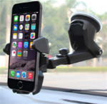 Cell phone dash / windshield extendable holder-