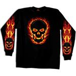 Black Out Skull Men's Long Sleeve T-shirt
