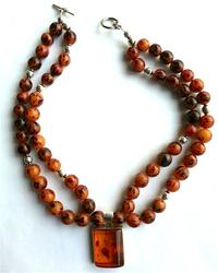Amber and Nut Double Strand