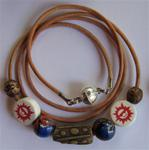 Spirit Wrap Bracelet Red, White, and Blue Moon