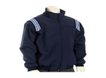 AHSAA Thermal Full Zip Umpire Navy Blue Jacket w/White, Navy & Powder Blue Trim