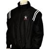 AHSAA Major League Style Black Jacket w/ Black/White Trim