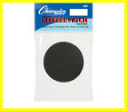 Soccer Referee Black Round Patch