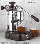 La Pavoni Professional Lever Espresso Machine Black Base, PBB-16 (16 cup)