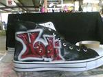 Airbrush on shoes