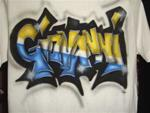Airbrushed Name on Tshirt