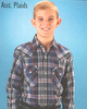 Ely Cattleman Young Men Assorted Plaid Western Shirts