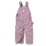 Lakin McKey Washed Infant Pink White Stripe Bib Overalls