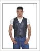 Dealer Leather Basic Plain Vest in Black