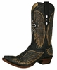Corral Distressed Men's Boots with Gold Wings and Silver Crosses - Black