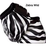 Classic Equine No Turn DL Bell Boot Designer Line in Zebra