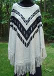 BY DESIGN DOLMAN SLEEVE PONCHO SWEATER WITH FRINGE TRIM