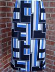 NYCC MOSIAC TILE ABSTRACT STRETCH PENCIL STRAIGHT SKIRT