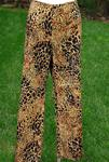 WILLI SMITH LEOPARD PRINT STRETCH CROPPED PANTS