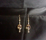 Hued Crystal Earrings with Chain Maille Accents