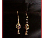 Hued Crystal and Chain Maille Dangles