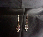 Hued Teardrop Earrings with Chain Maille Accent