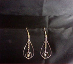 Small Hoop Encapsulated Teardrop Earrings