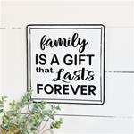 "10"" FAMILY TIN SIGN"