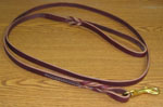 "Leather Leash  6' x 1/2""  with Brass Snap"