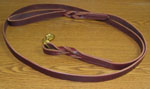 "Leather Leash  6' x 3/4"" with Brass Snap"