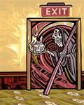 Archival Paper Print - Unframed 'Exit At Your Own Risk'