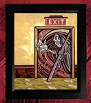 Collectors Canvas Giclee - 'Exit At Your Own Risk'