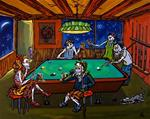 Archival Paper Print- Unframed 'Billiard Room Buddies'