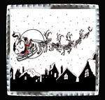 "Art Tin 6""x 6""- ""Scary Christmas"""