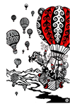 Greeting Card - 'Balloon Fiesta'