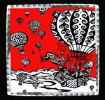 "Art Tin 6""x 6""- ""Balloon Fiesta"""