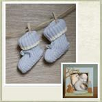 Angel Dear's Baby Boy Booties