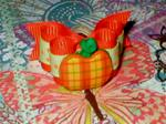 5/8 or 7/8 Plaid Pumpkin