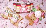 3 Pack X-sm Beary Cute Pink N Tan