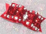 5/8 or 7/8 Dazzling Red Rhinestone Studded +