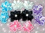 Satin Rhinestone Flower Pairs for Maltese