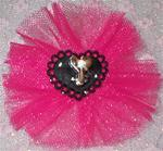 Heart & Key Tutu Topknot or Collar Bow