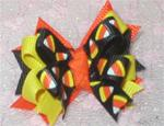 Boutique Halloween Candy Corn Knot *
