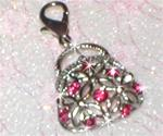 Beautiful Rhinestone Purse Collar Charm