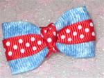 Polka Dot and Denim Soft Bow