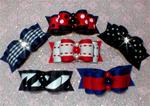 5/8 or 7/8 Boys Blue, Black Red 6 Pack