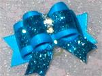5/8 or 7/8 Dazzling Aqua Blue Glitter Deluxe or Choice Color +