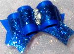 5/8 or 7/8 Dazzling Royal Blue Glitter Deluxe or Choice Color +
